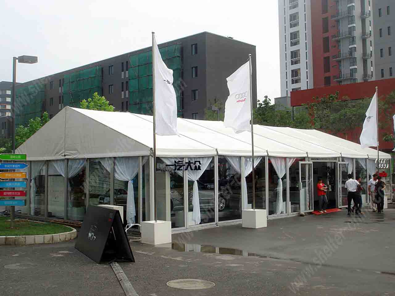 Glass Sidewalls Commercial Event Marquee Clear Tent